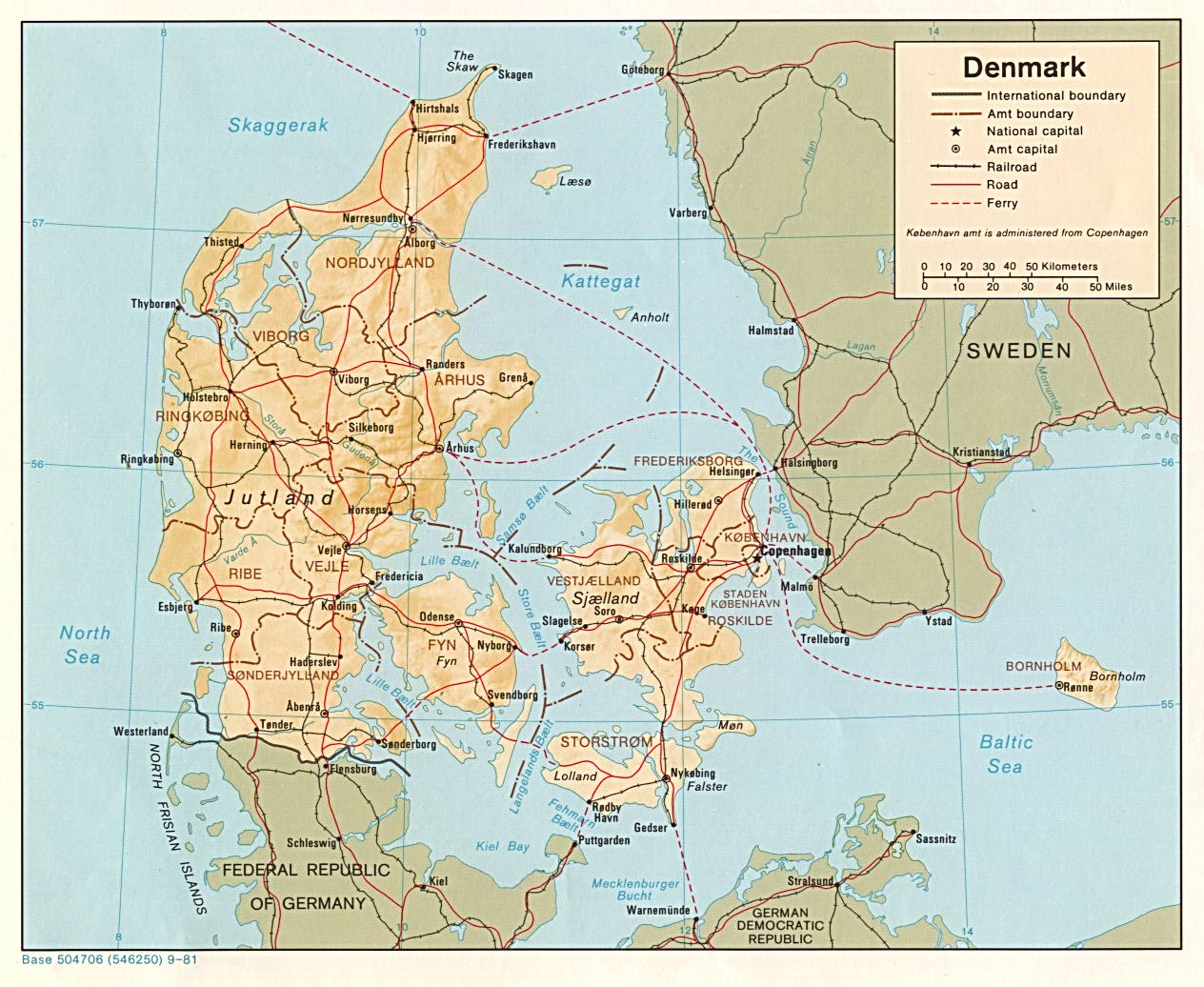Denmark Topographic Map.Denmark Maps Perry Castaneda Map Collection Ut Library Online