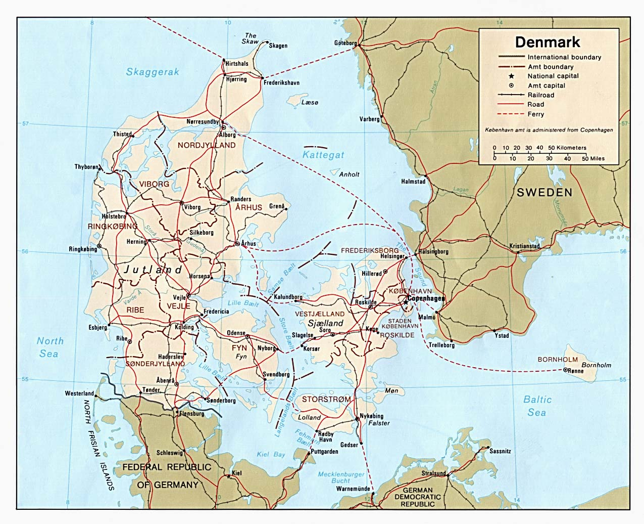 Denmark Maps PerryCastaeda Map Collection UT Library Online