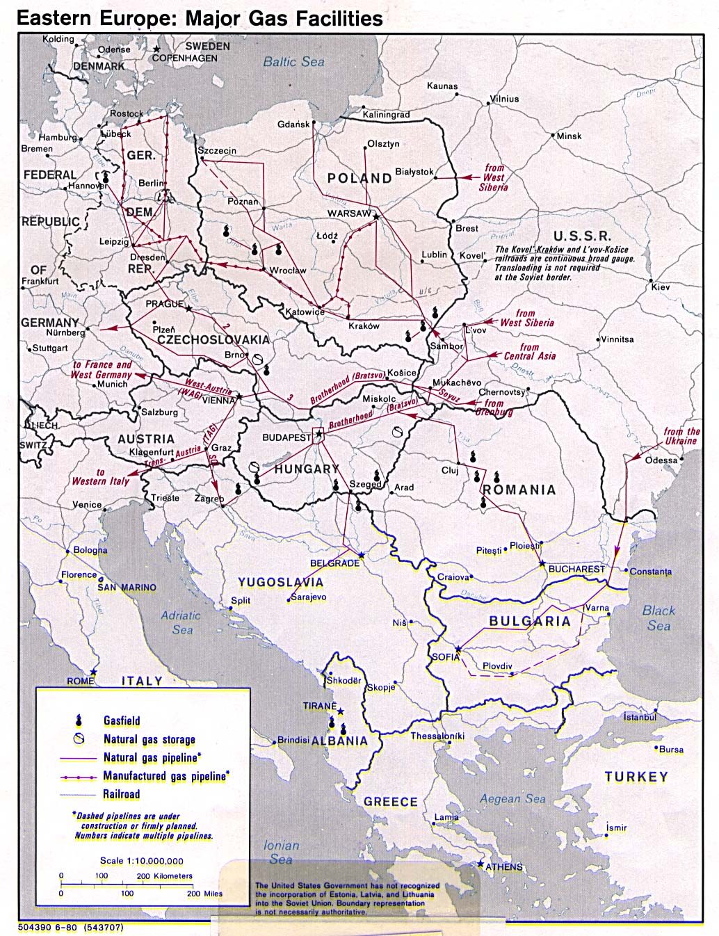 eastern europe major gas facilities