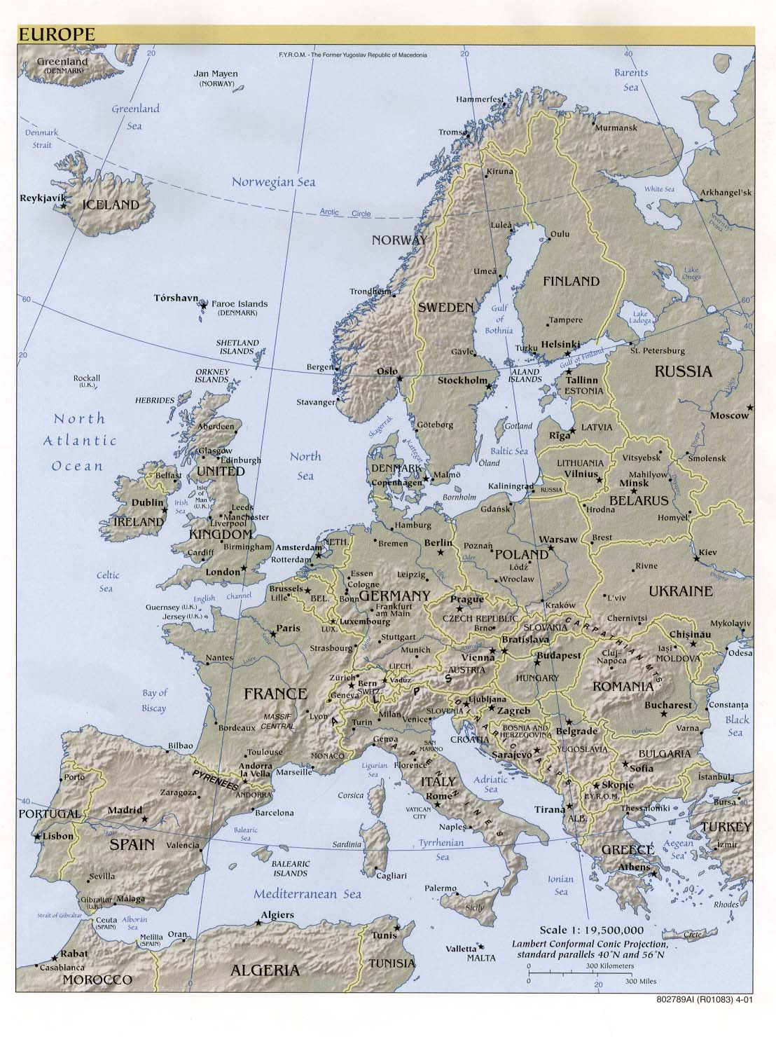 Norway On Map Of Europe.Europe Maps Perry Castaneda Map Collection Ut Library Online