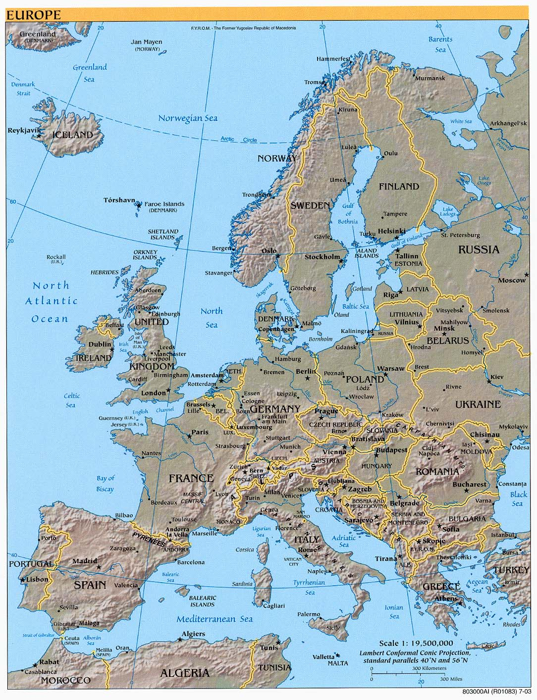 Maps Map Of Europe Labeled