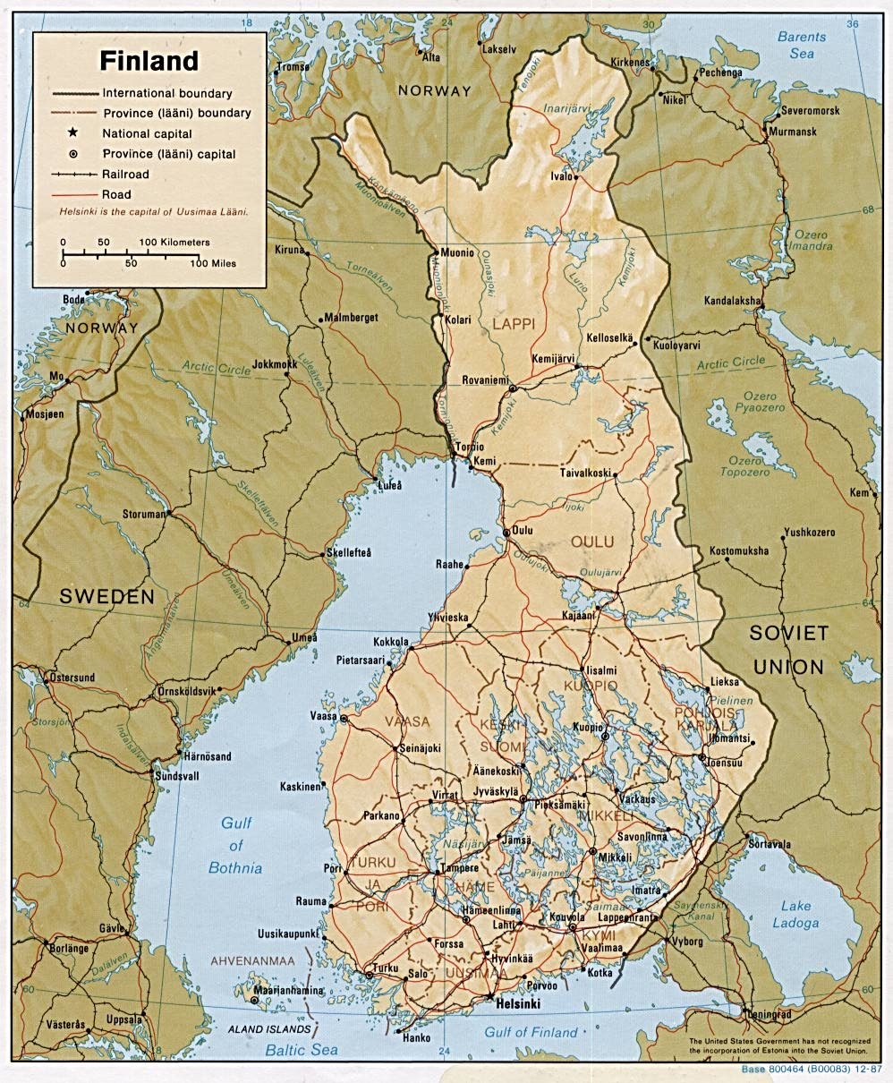 Finland maps perry castaeda map collection ut library online finland maps gumiabroncs Choice Image