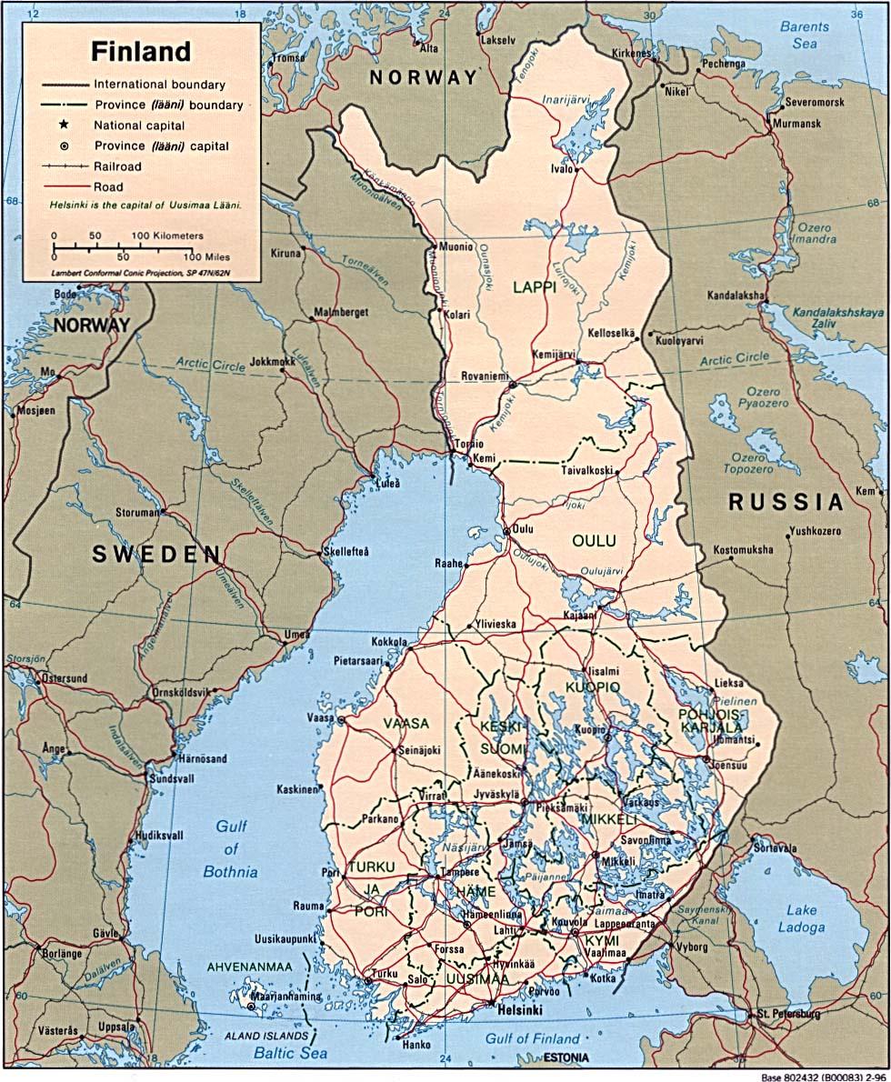 Suomen Kartta Useita Erilaisia Karttoja Myos Espanjan Ranskan