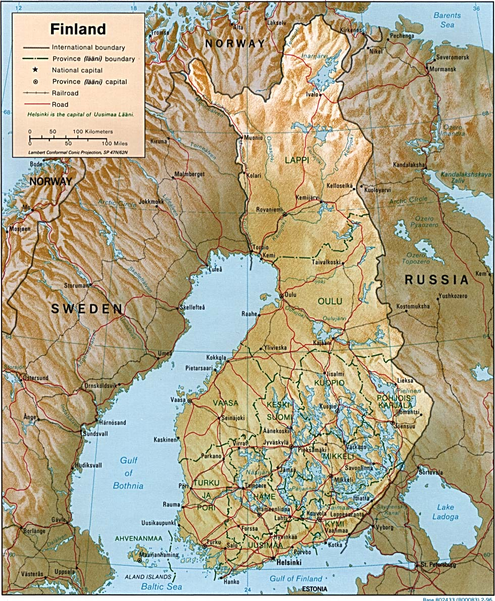 Finland Maps Perry Castaneda Map Collection Ut Library Online