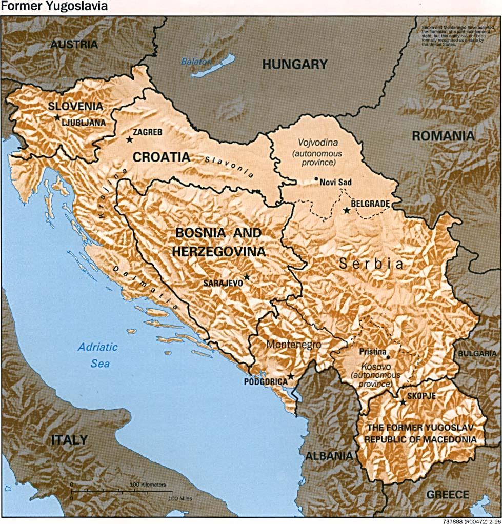 Former yugoslavia maps perry castaeda map collection ut library former yugoslavia maps gumiabroncs Choice Image