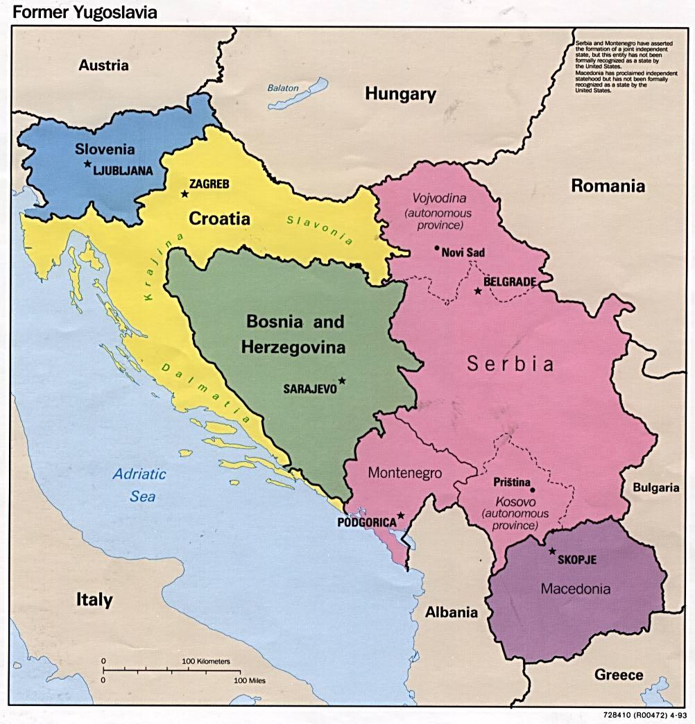 1Up Travel - Maps of Bosnia and Herzegovina.Former ...