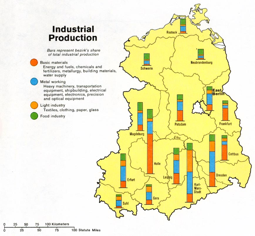 germany eastern industrial production from map