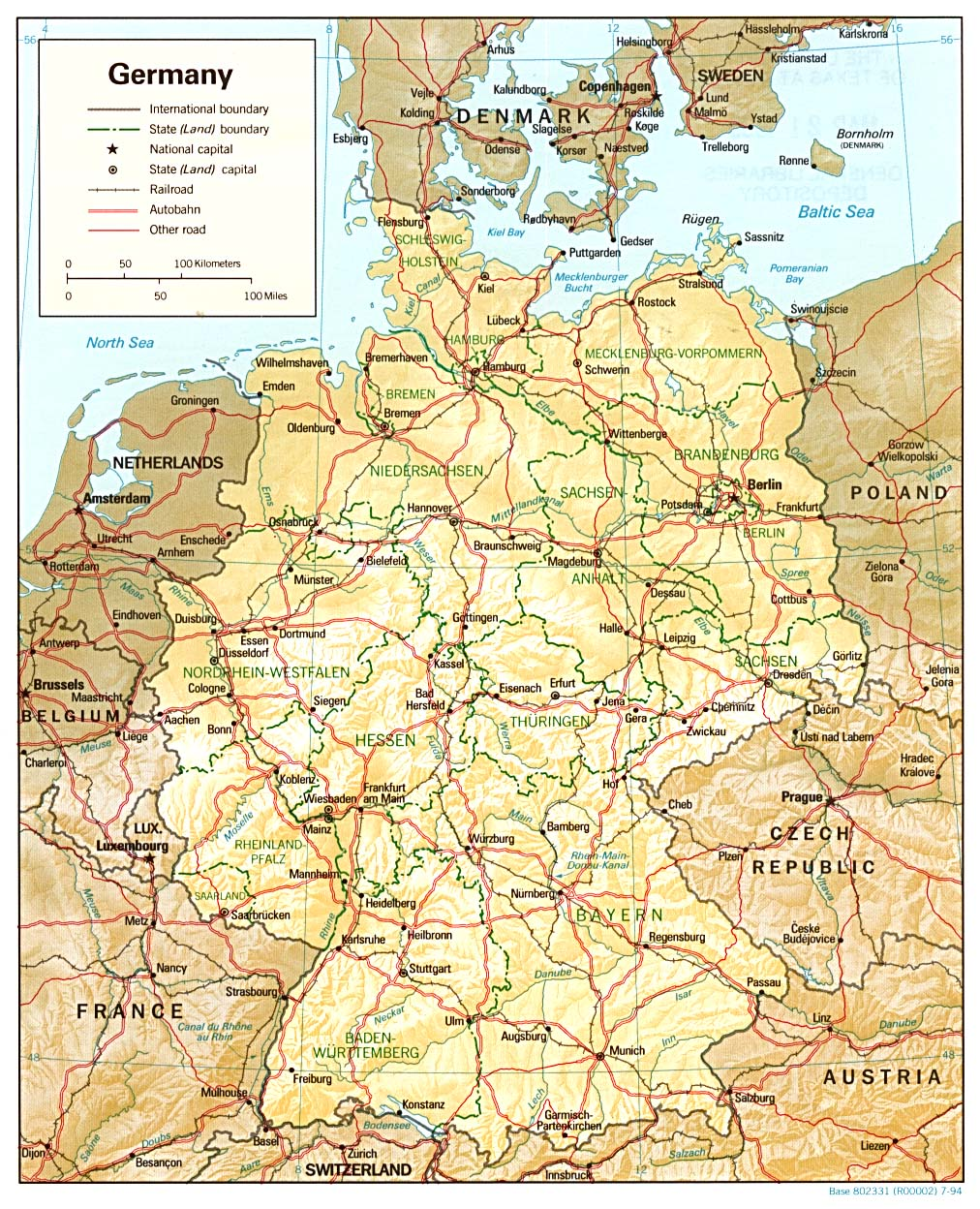 Map Of Germany And Surrounding Countries.Germany Maps Perry Castaneda Map Collection Ut Library Online