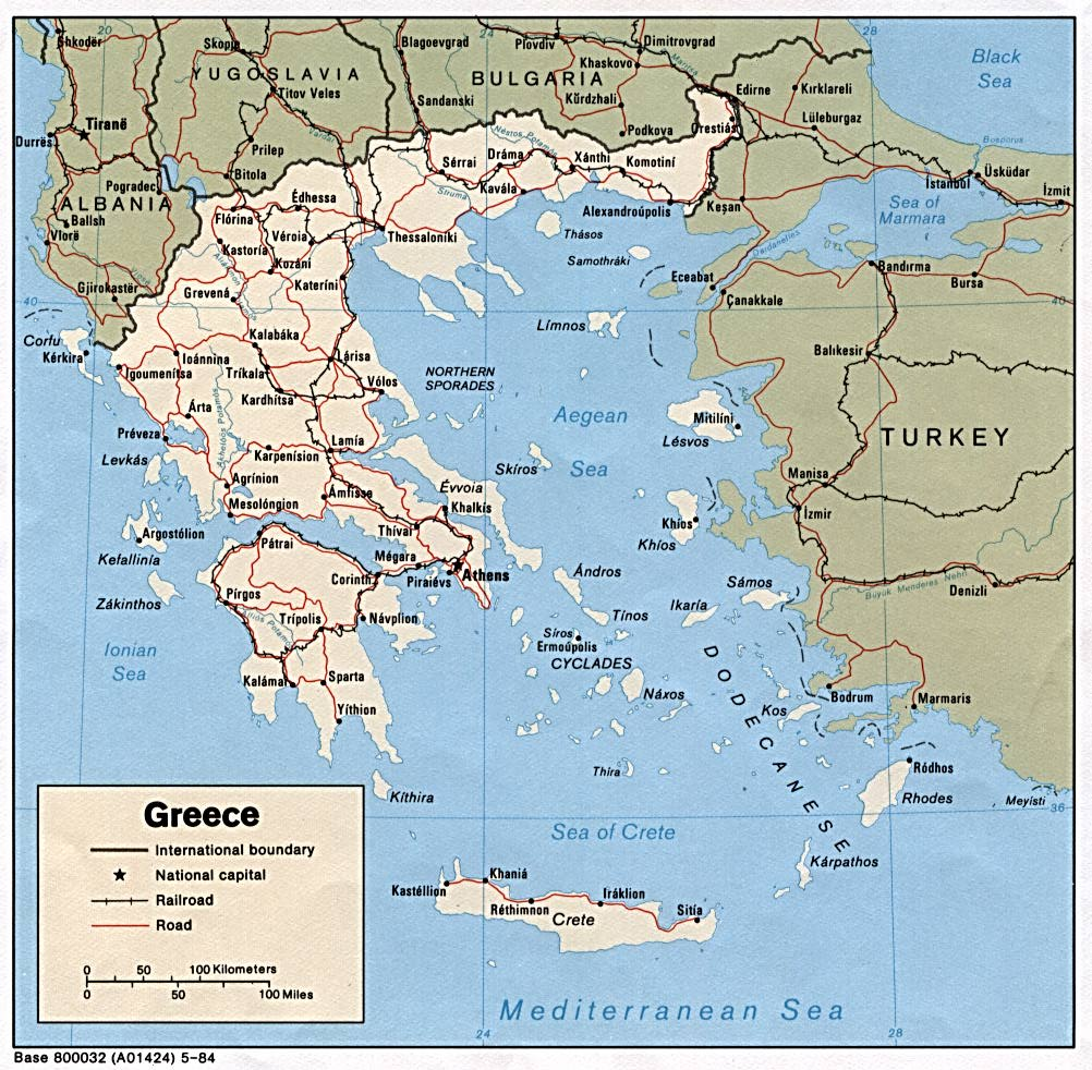Greece Maps PerryCastañeda Map Collection UT Library Online - Political map of greece