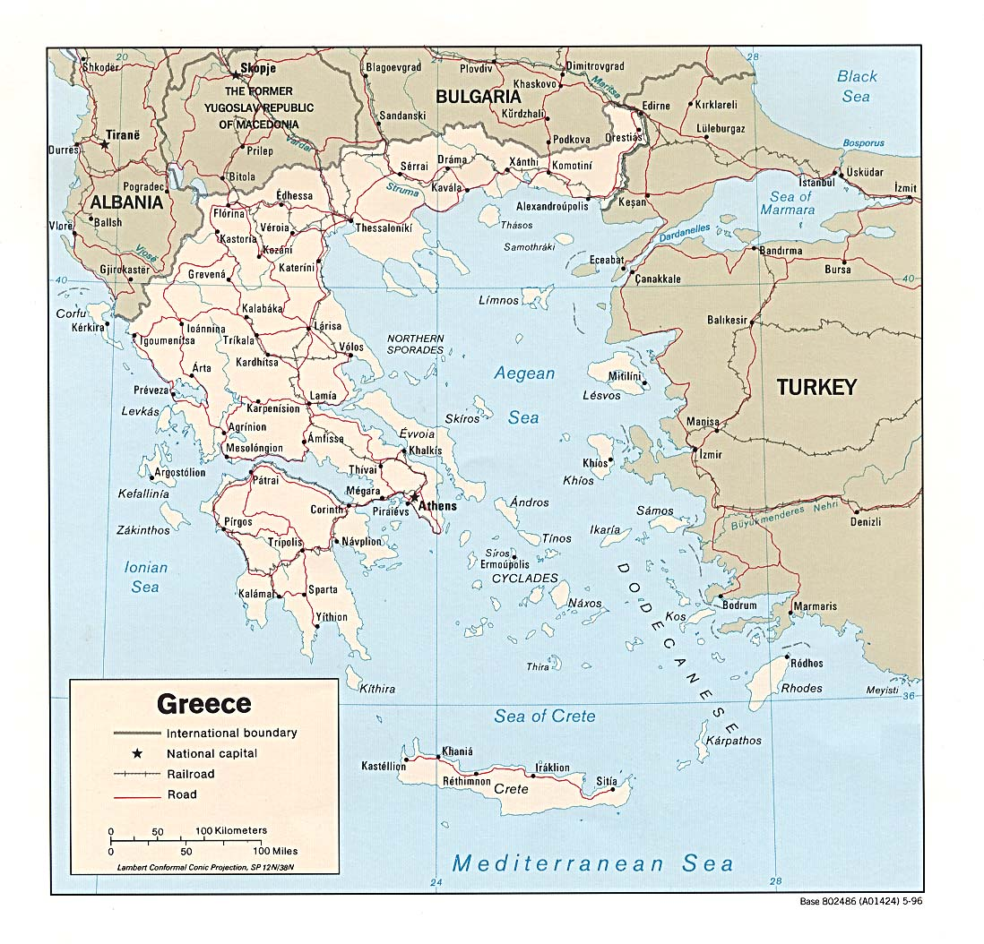 Map Of Greece A Source For All Kinds Of Maps Of Greece - Political map of greece