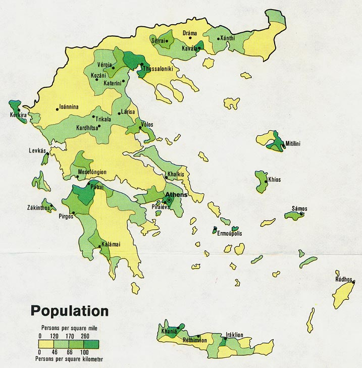Greece maps perry castaeda map collection ut library online greece population gumiabroncs Gallery