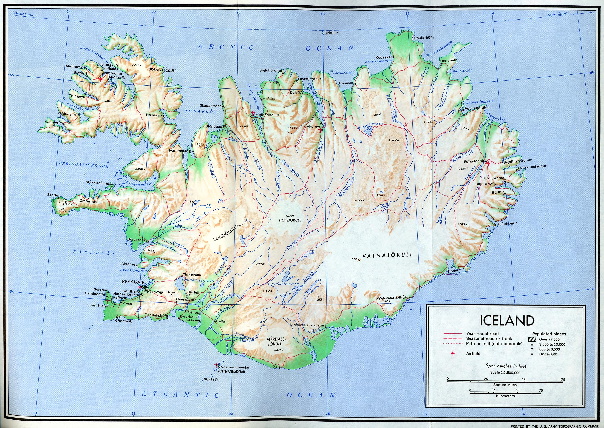 Iceland Maps PerryCastañeda Map Collection UT Library Online - Iceland map