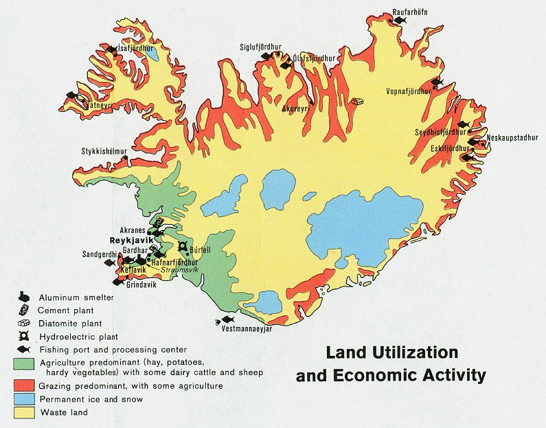 Iceland Maps PerryCastaeda Map Collection UT Library Online