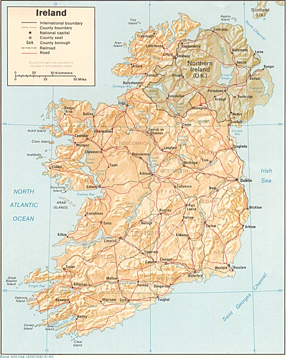 Map With Counties Of Ireland.The Irish Ancestral Research Association Tiara Links