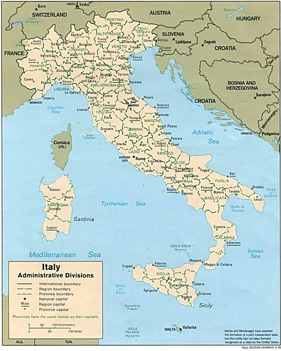 Free Printable Map Of Italy.Italy Maps Perry Castaneda Map Collection Ut Library Online
