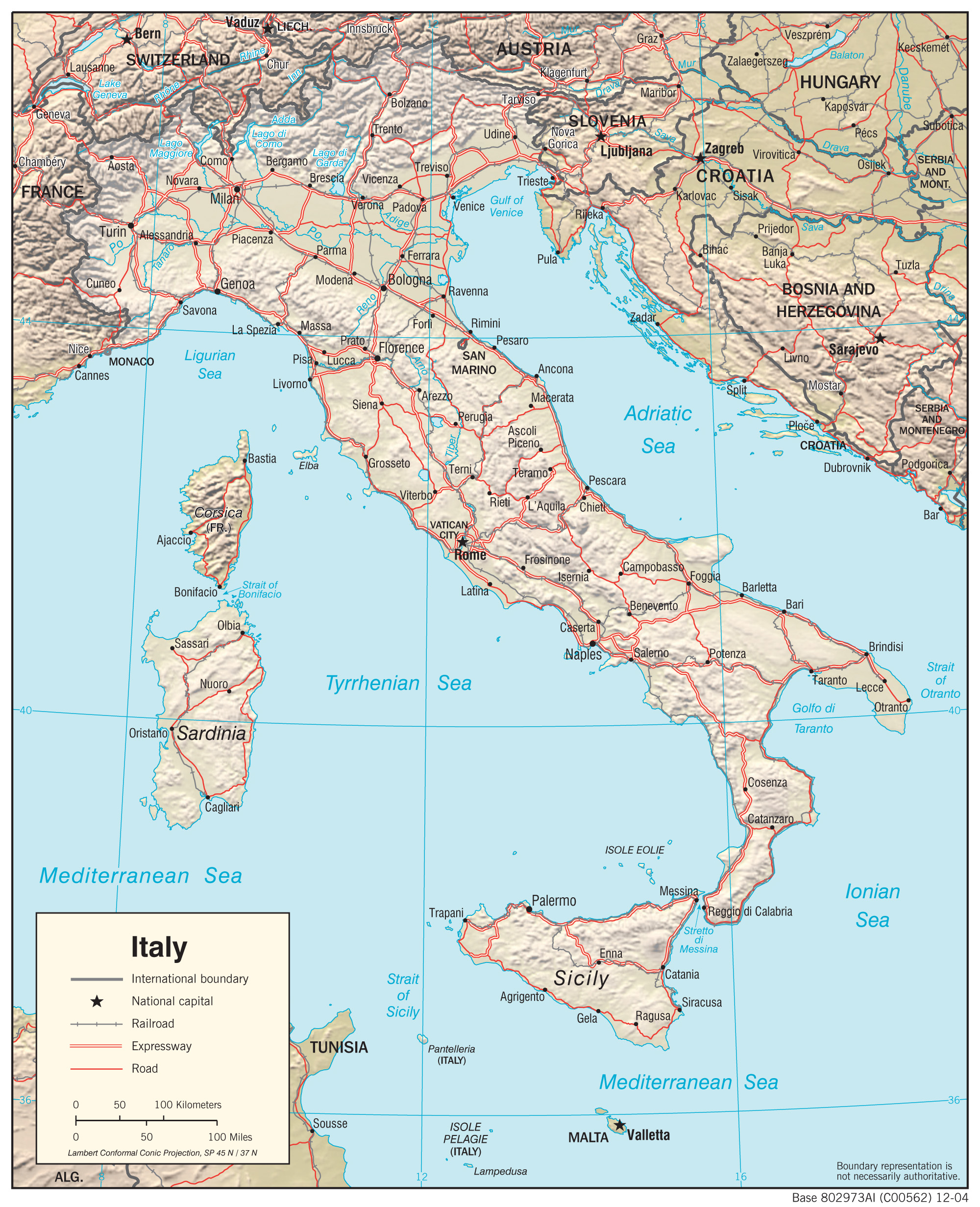 Pics Of Italy Map.Italy Maps Perry Castaneda Map Collection Ut Library Online