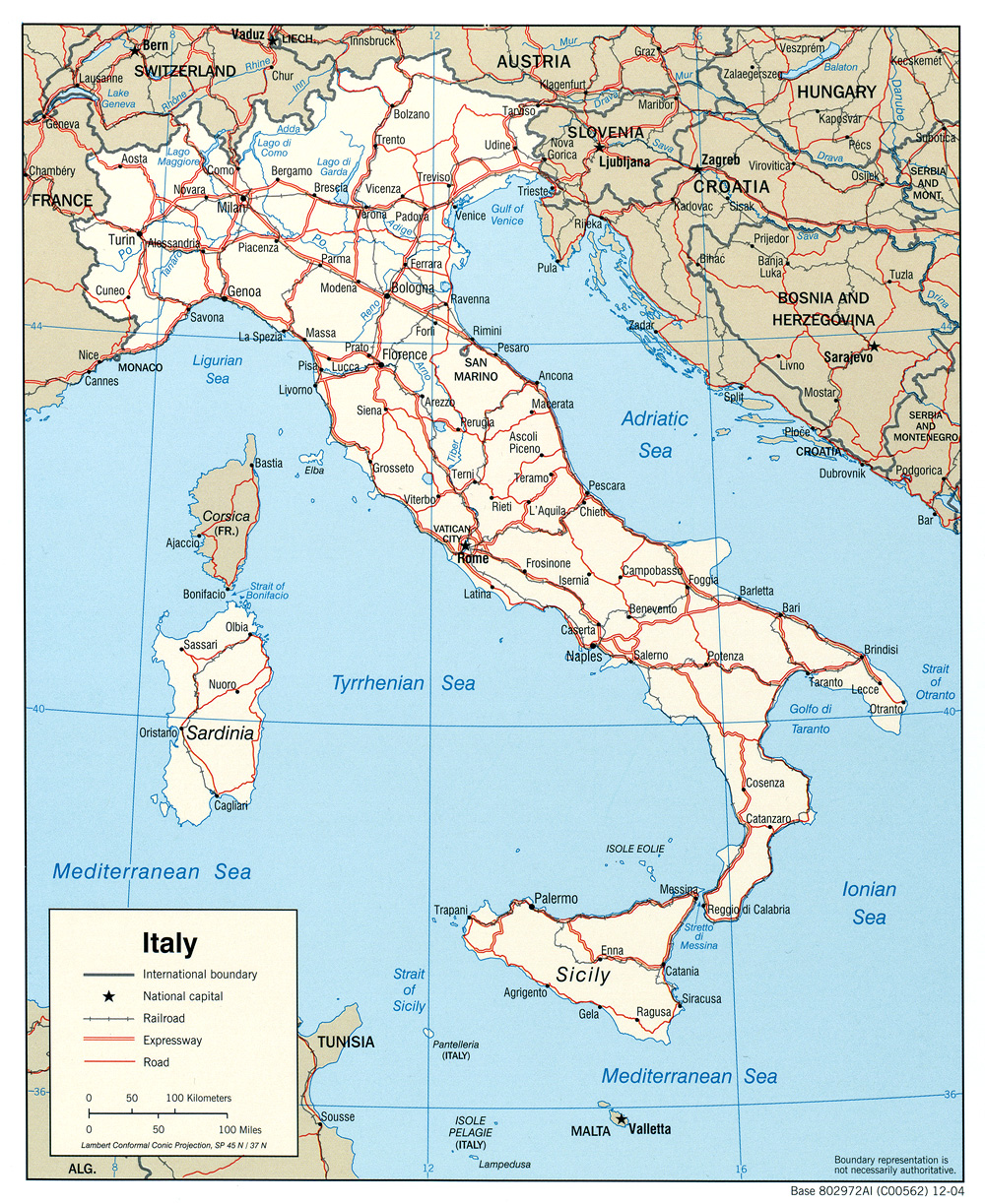 Italy maps perry castaeda map collection ut library online italy maps gumiabroncs Image collections
