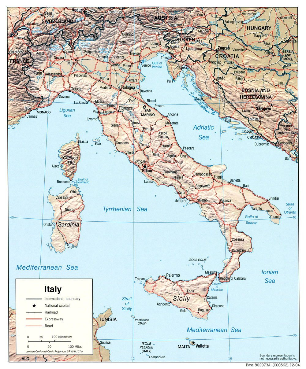 Italy Maps PerryCastañeda Map Collection UT Library Online - Physical map of italy