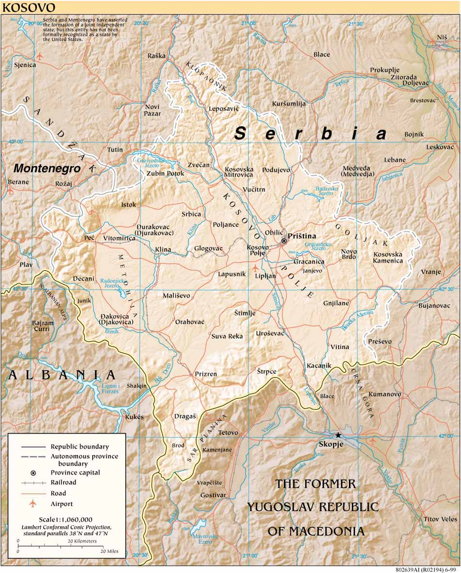 Kosovo maps perry castaeda map collection ut library online kosovo reference gumiabroncs Image collections