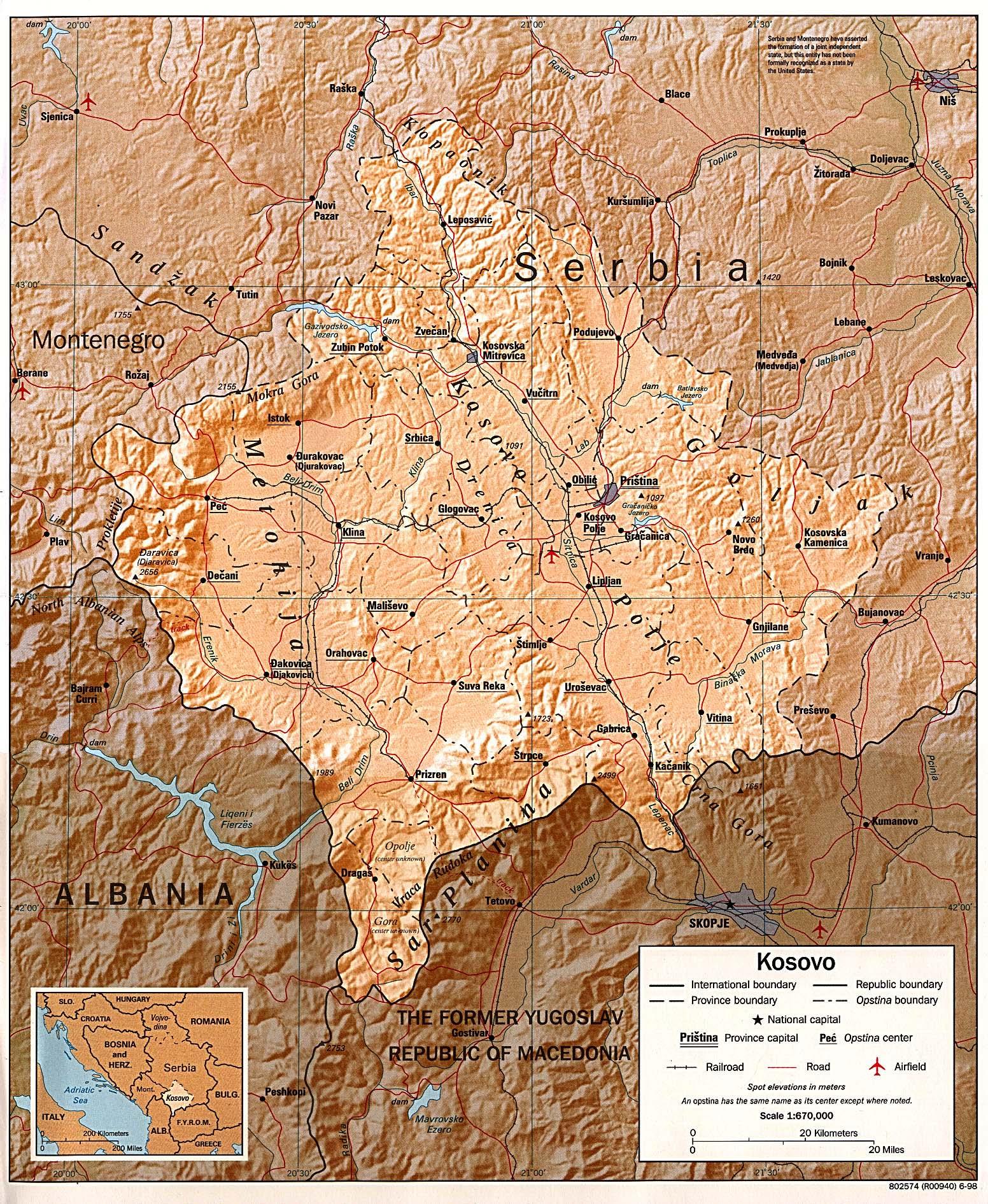 Kosovo Maps PerryCastañeda Map Collection UT Library Online - Kosovo map
