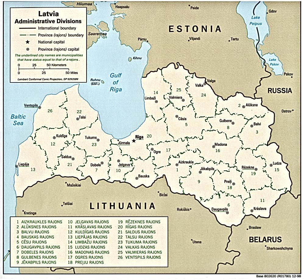 Lettland Karta Europa.Green Map Of Latvia States Cities And Flag Stock Vector