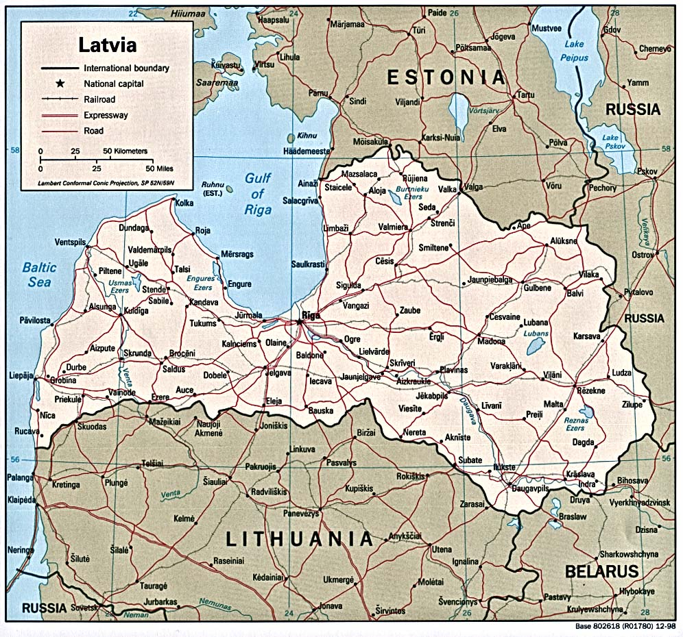 Latvia Maps - Perry-Castañeda Map Collection - UT Library Online