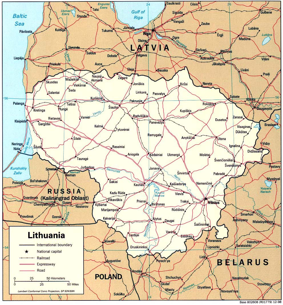 lithuania maps  perrycastañeda map collection  ut library online -  lithuania