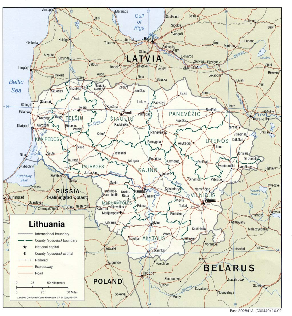 Lithuania Maps PerryCastaeda Map Collection UT Library Online