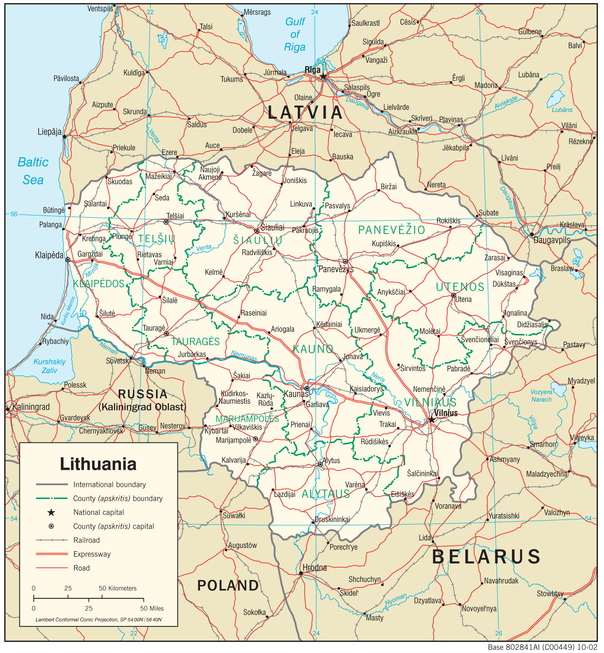 lithuania maps  perrycastañeda map collection  ut library online - lithuania maps