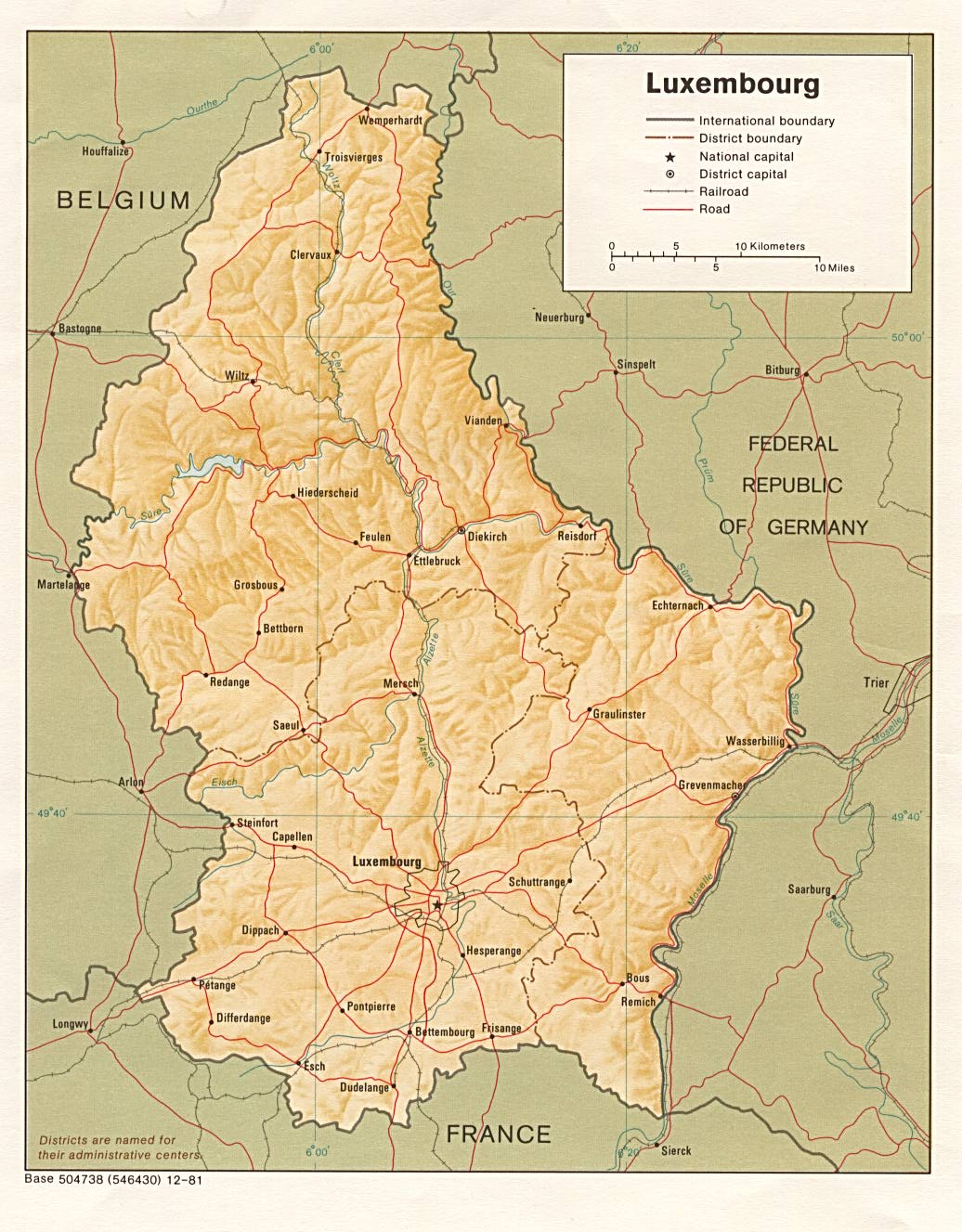 Map Of Europe Luxemburg.Luxembourg Map