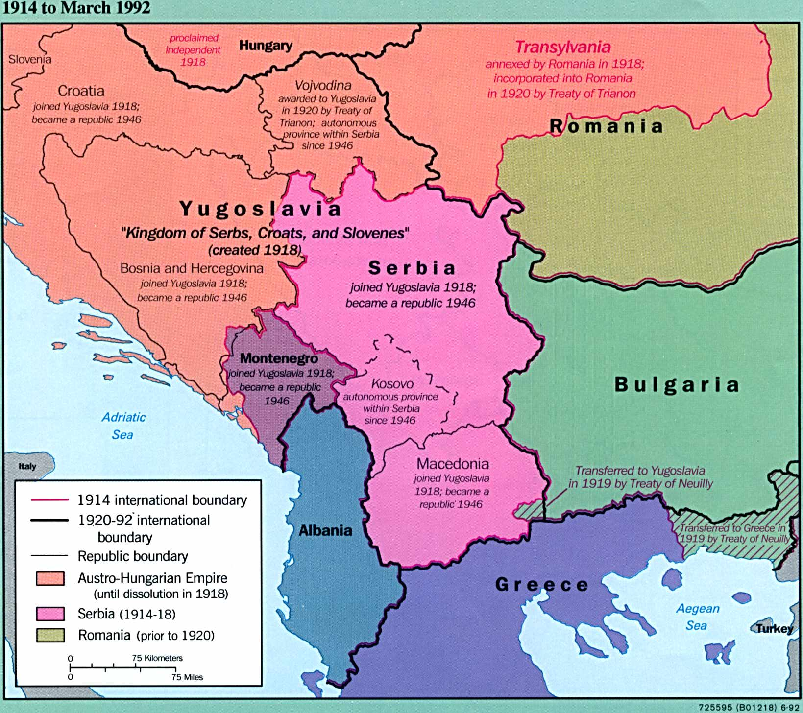 Former Yugoslavia Maps PerryCastañeda Map Collection UT - Serbia maps with countries
