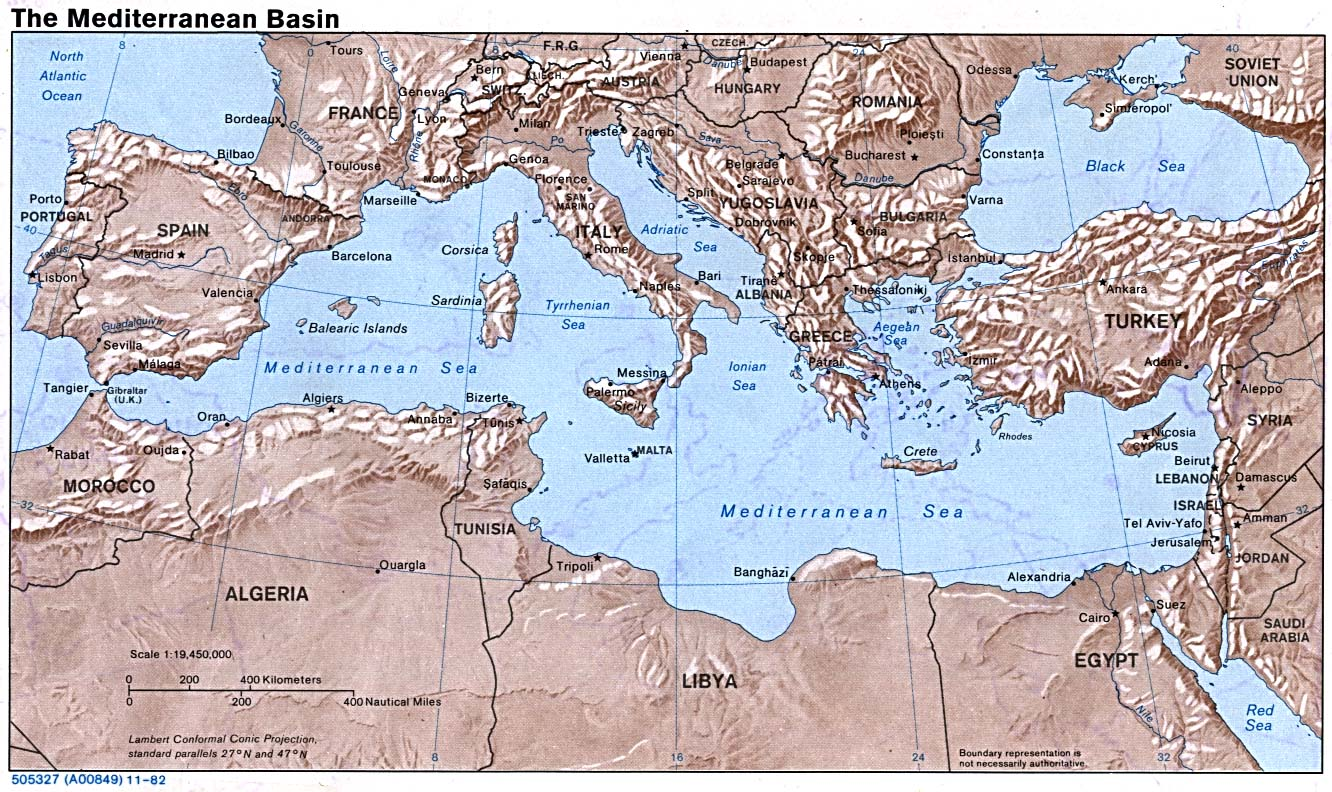 Europe maps perry castaeda map collection ut library online mediterranean basin gumiabroncs Image collections
