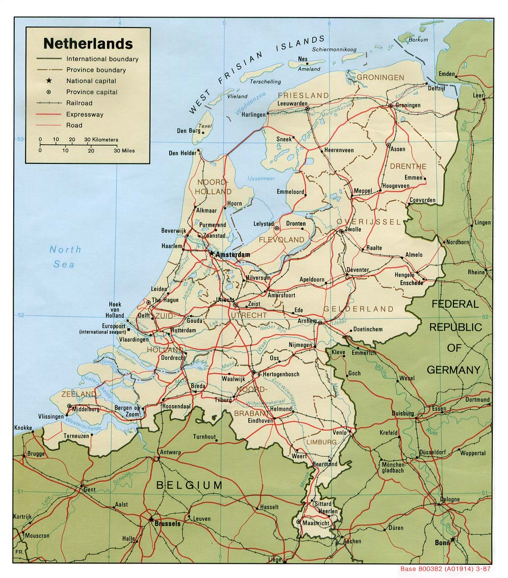 Netherlands Maps PerryCastañeda Map Collection UT Library Online - Netherlands map