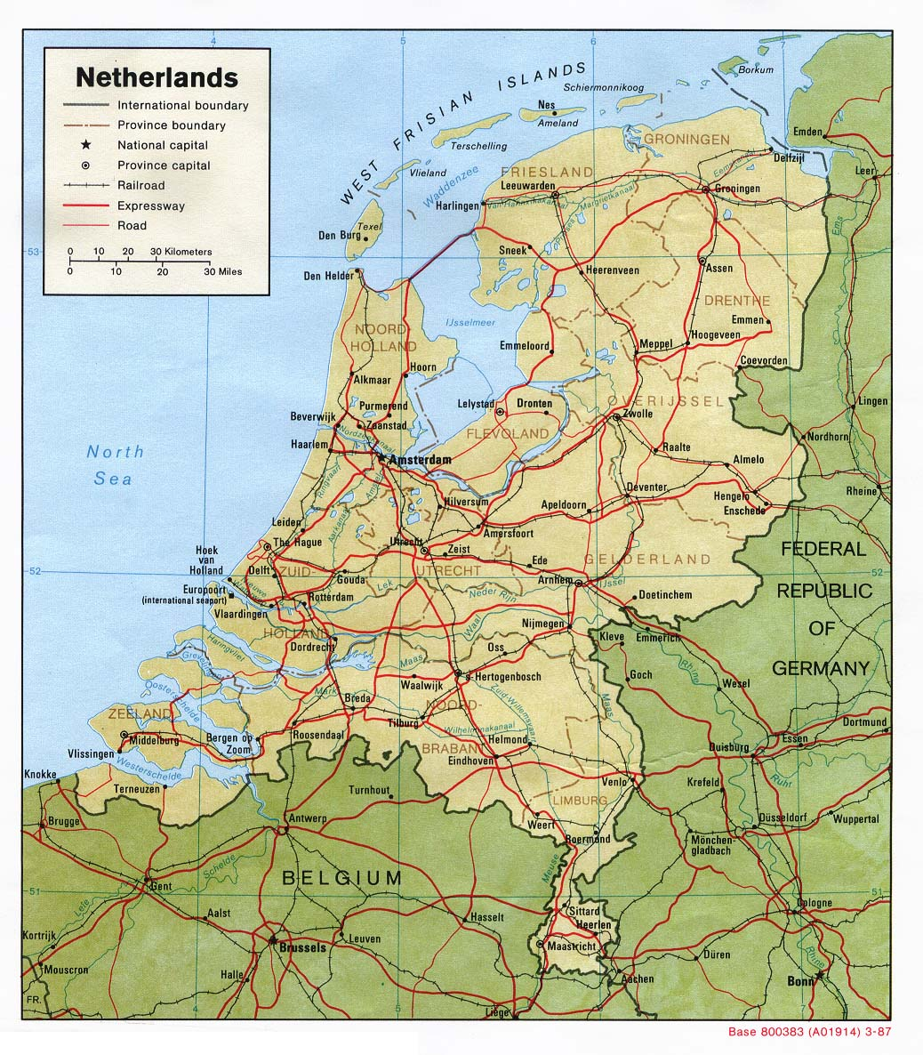 Holland Europe Map.Netherlands Maps Perry Castaneda Map Collection Ut Library Online