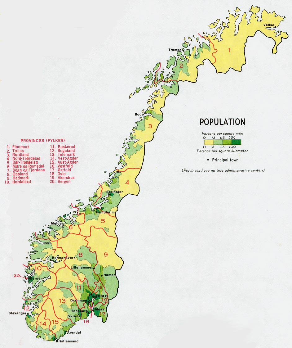 Norway Maps Perry Castaneda Map Collection Ut Library Online