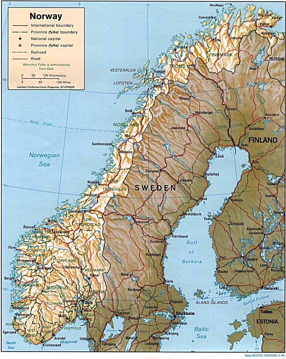 Norway On Map Of Europe.Norway Maps Perry Castaneda Map Collection Ut Library Online