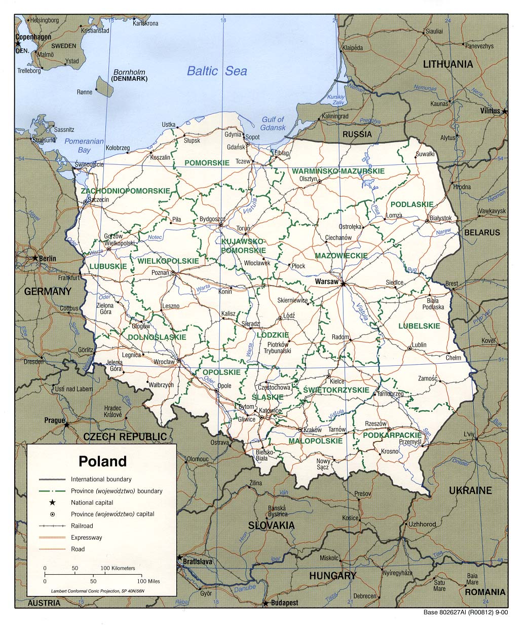 Map Of Europe Poland