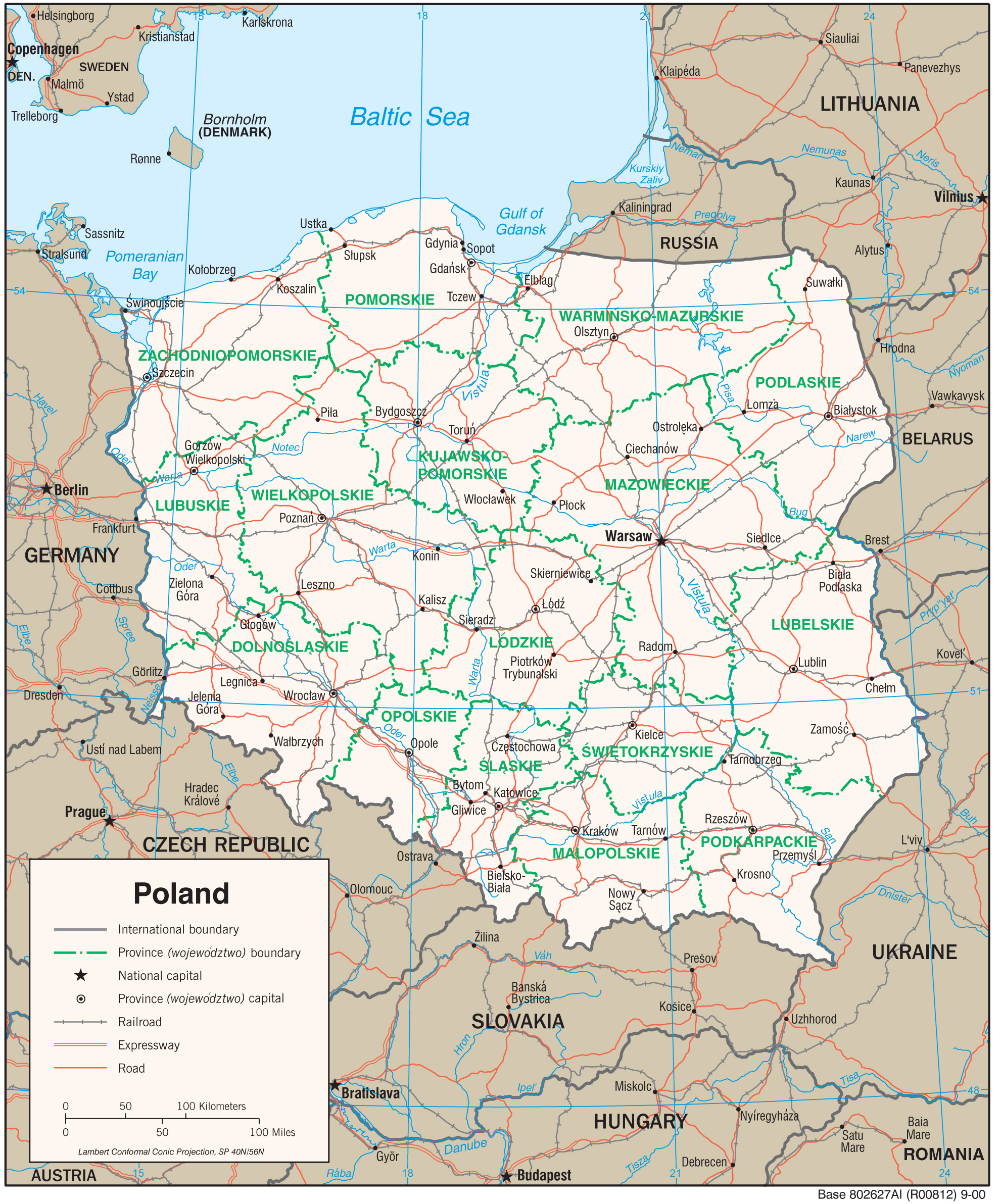 Poland Maps Perry Castaneda Map Collection Ut Library Online