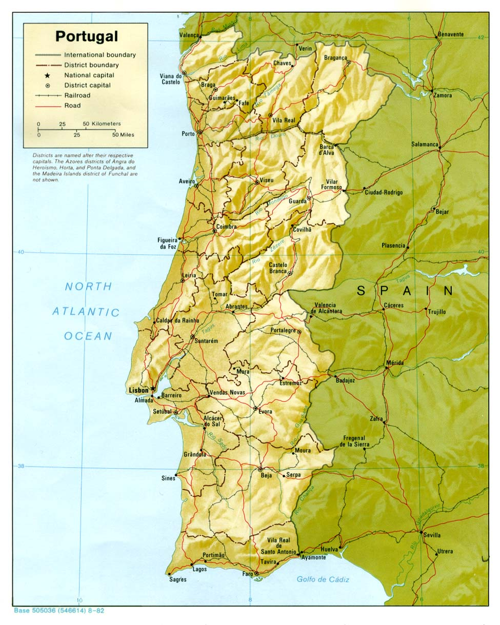 Portugal Maps Perry Castaneda Map Collection Ut Library Online