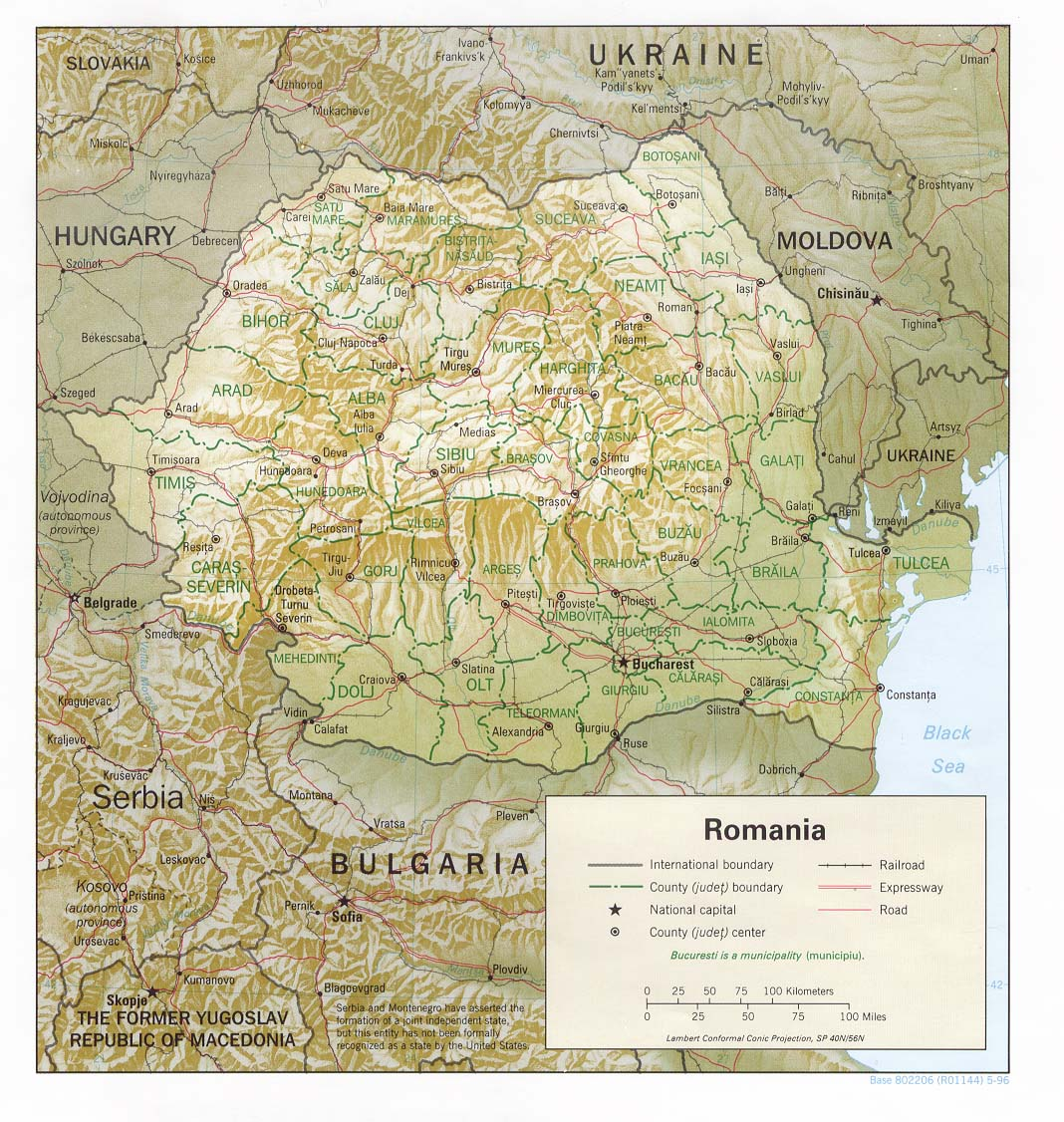 Romania Maps Perry Castaneda Map Collection Ut Library Online