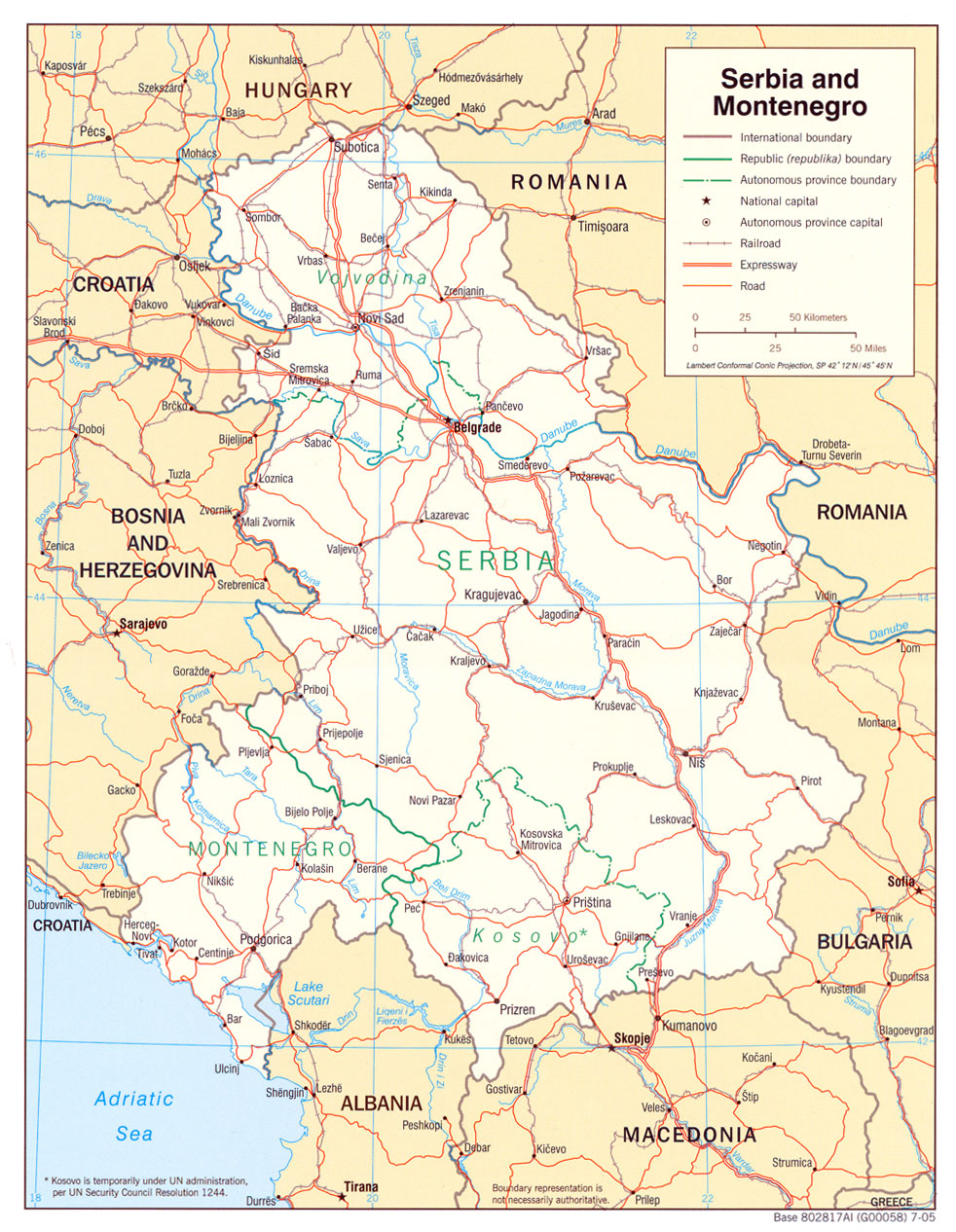 Serbia Maps PerryCastañeda Map Collection UT Library Online - Montenegro maps with countries