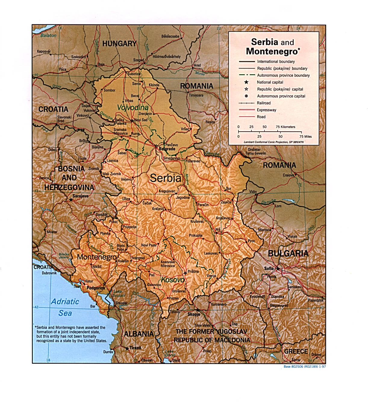 Maps Of Serbia And Montenegro - Montenegro map download
