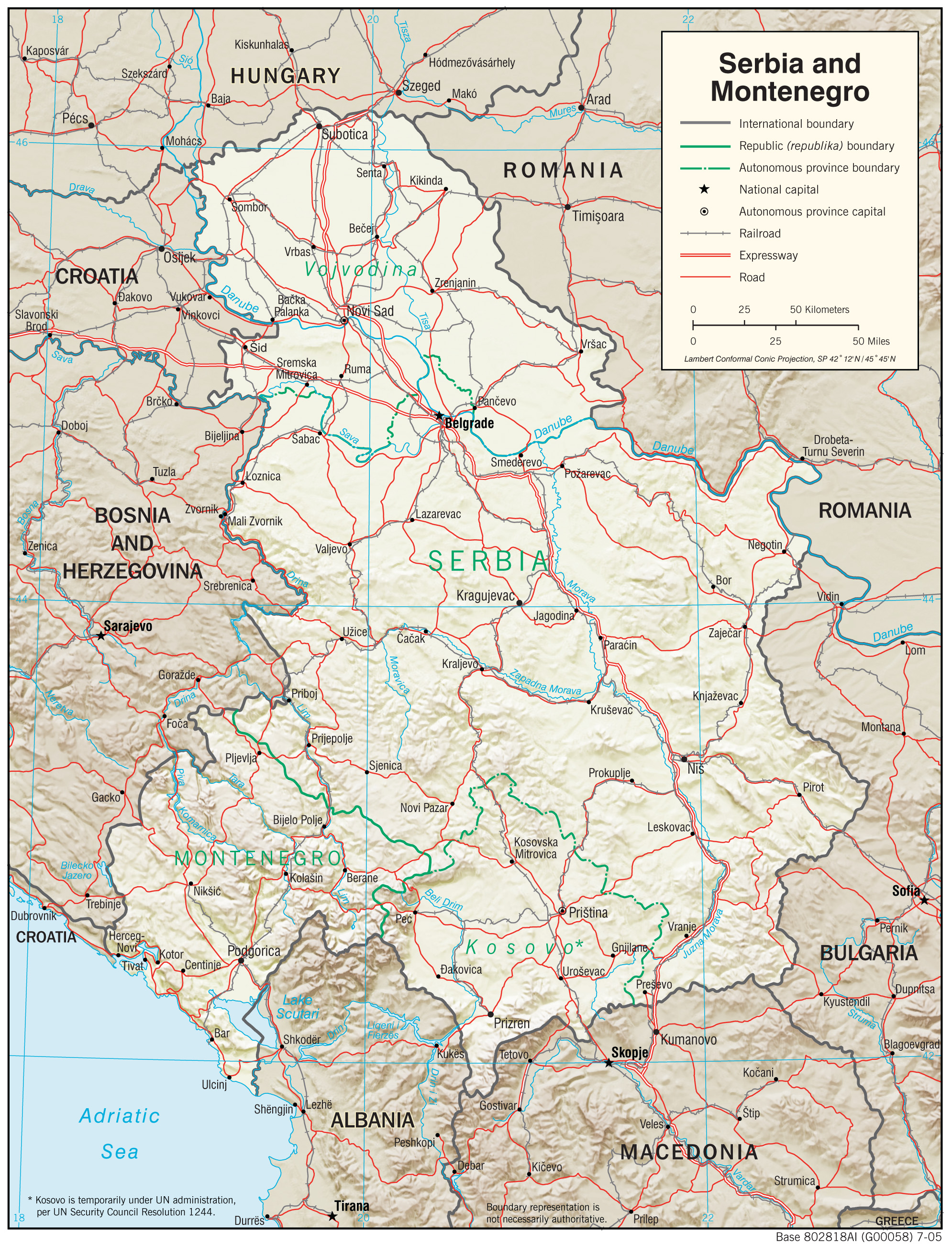 Serbia Maps PerryCastañeda Map Collection UT Library Online - Map of serbia