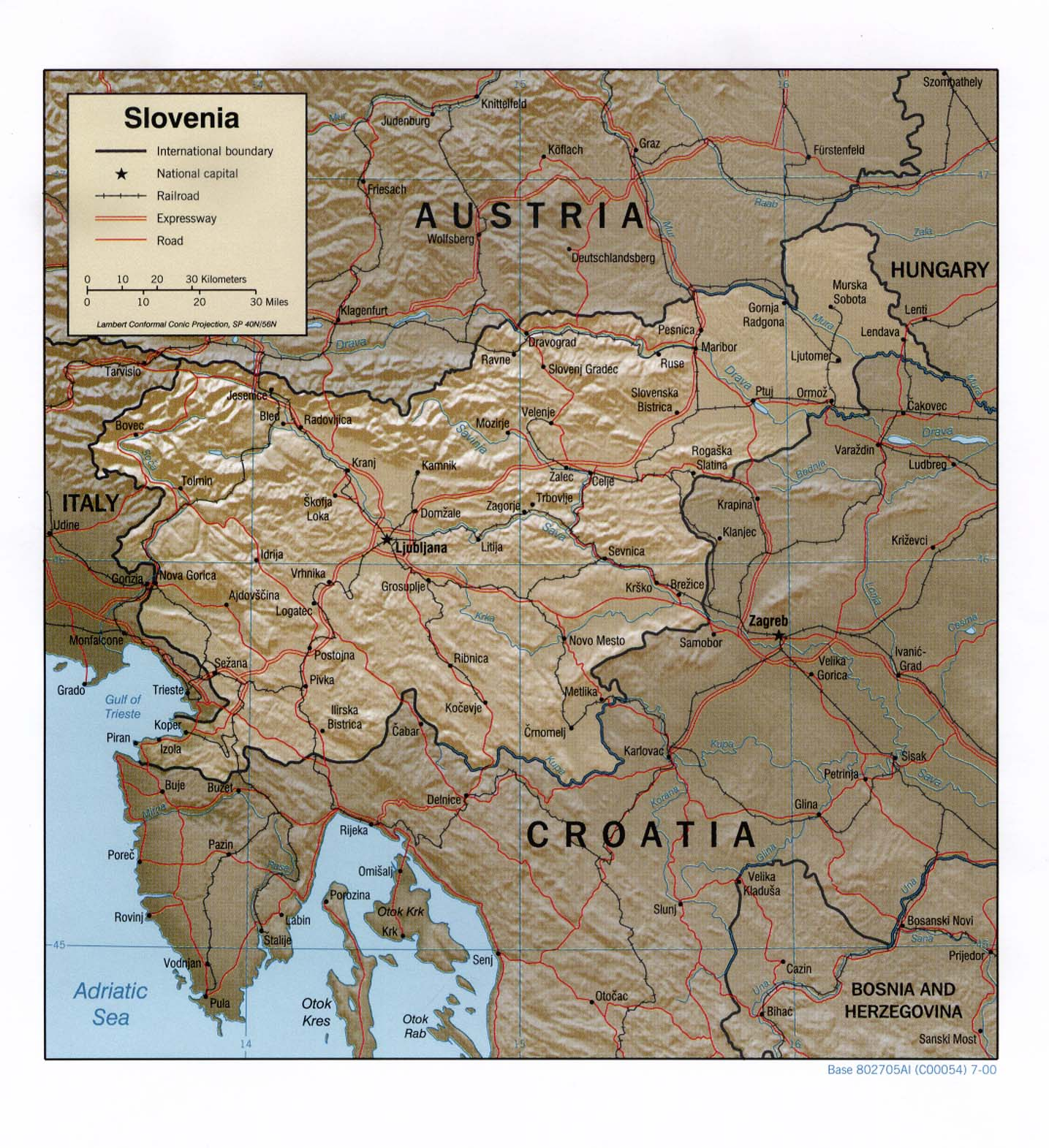Slovenia Maps PerryCastaeda Map Collection UT Library Online