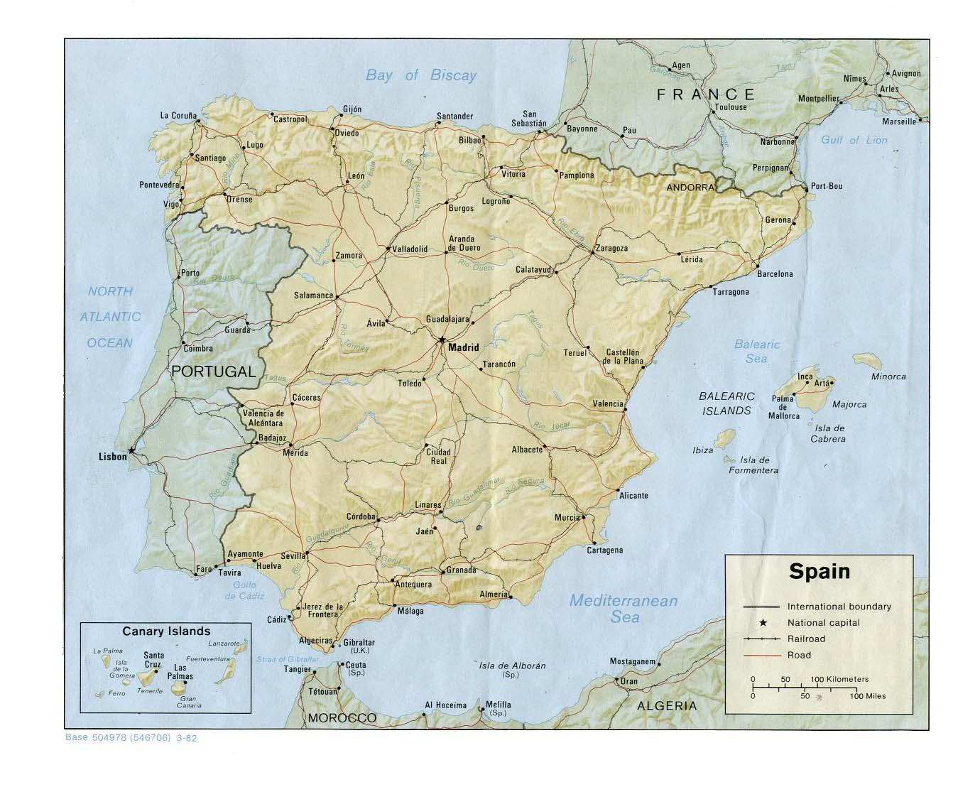 Map Of Spain Geography.Map Of Spain Geography
