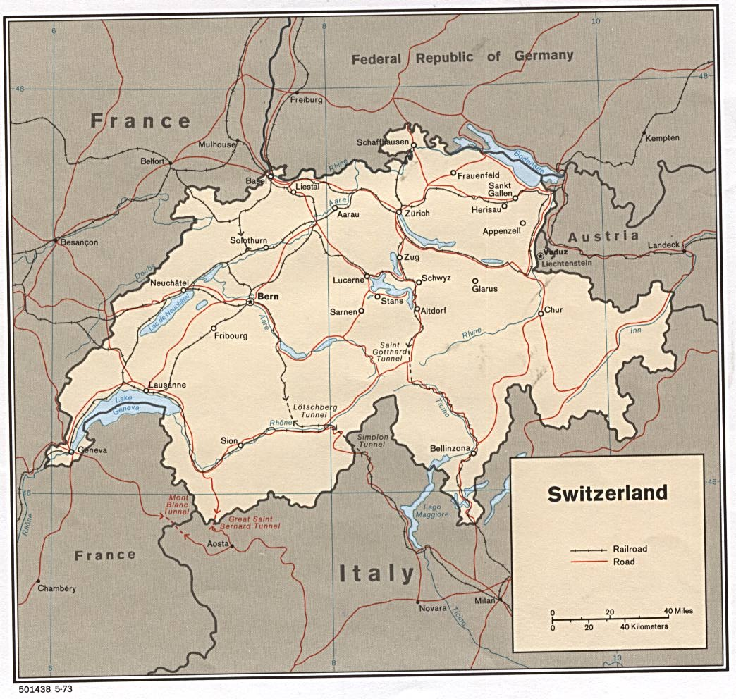 Switzerland Maps - Perry-Castañeda Map Collection - UT Library Online