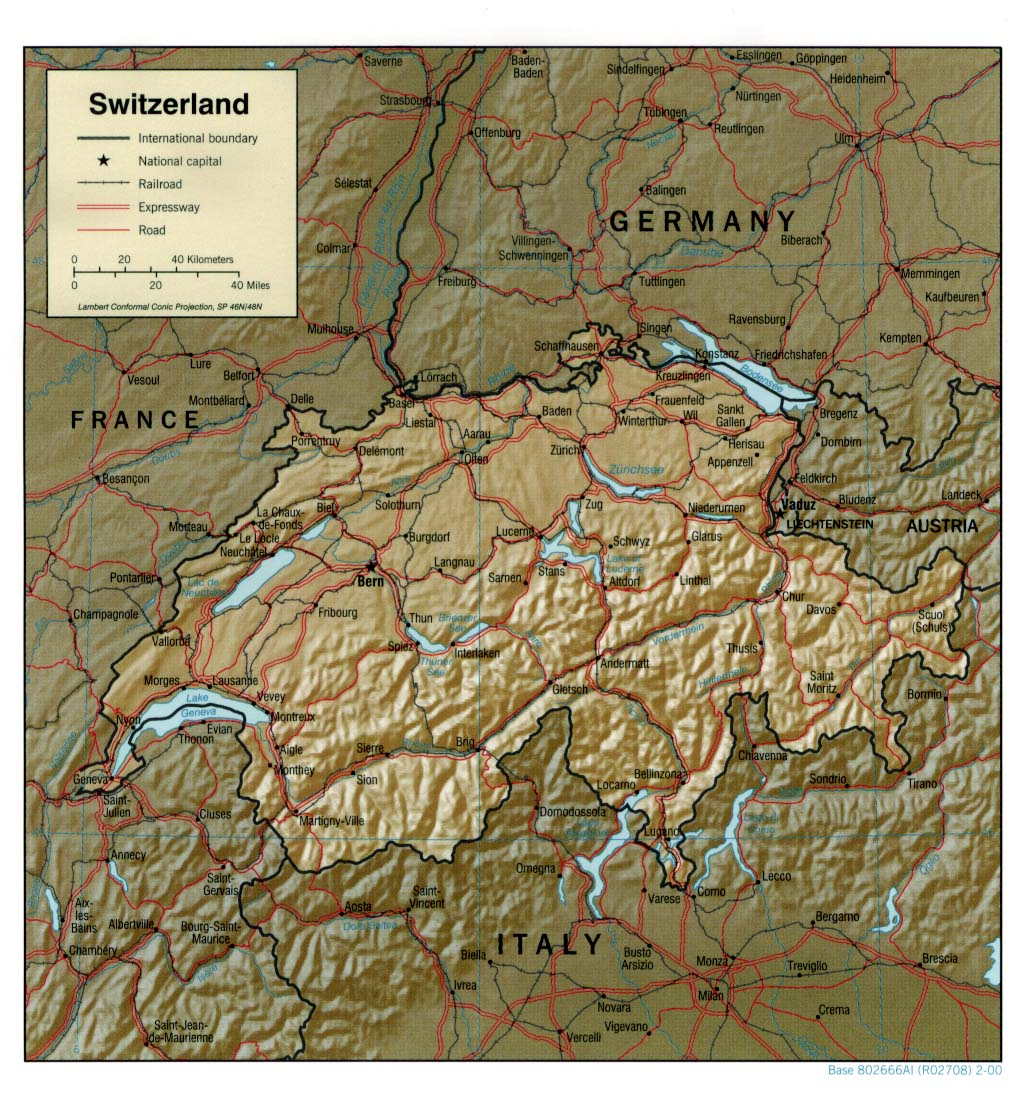 Switzerland Maps Perry Castaneda Map Collection Ut Library Online