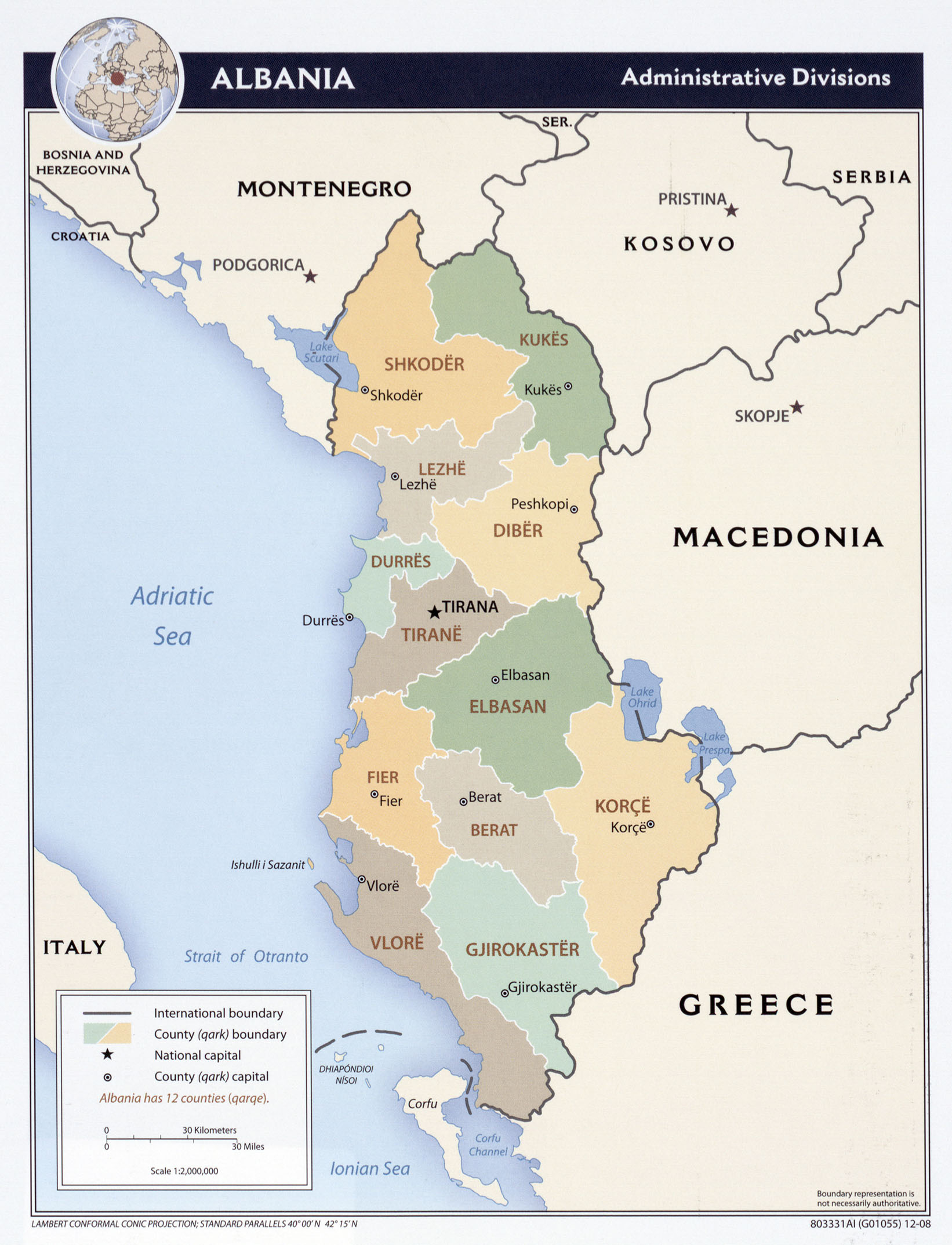 Albania Maps PerryCastañeda Map Collection UT Library Online - Map of is