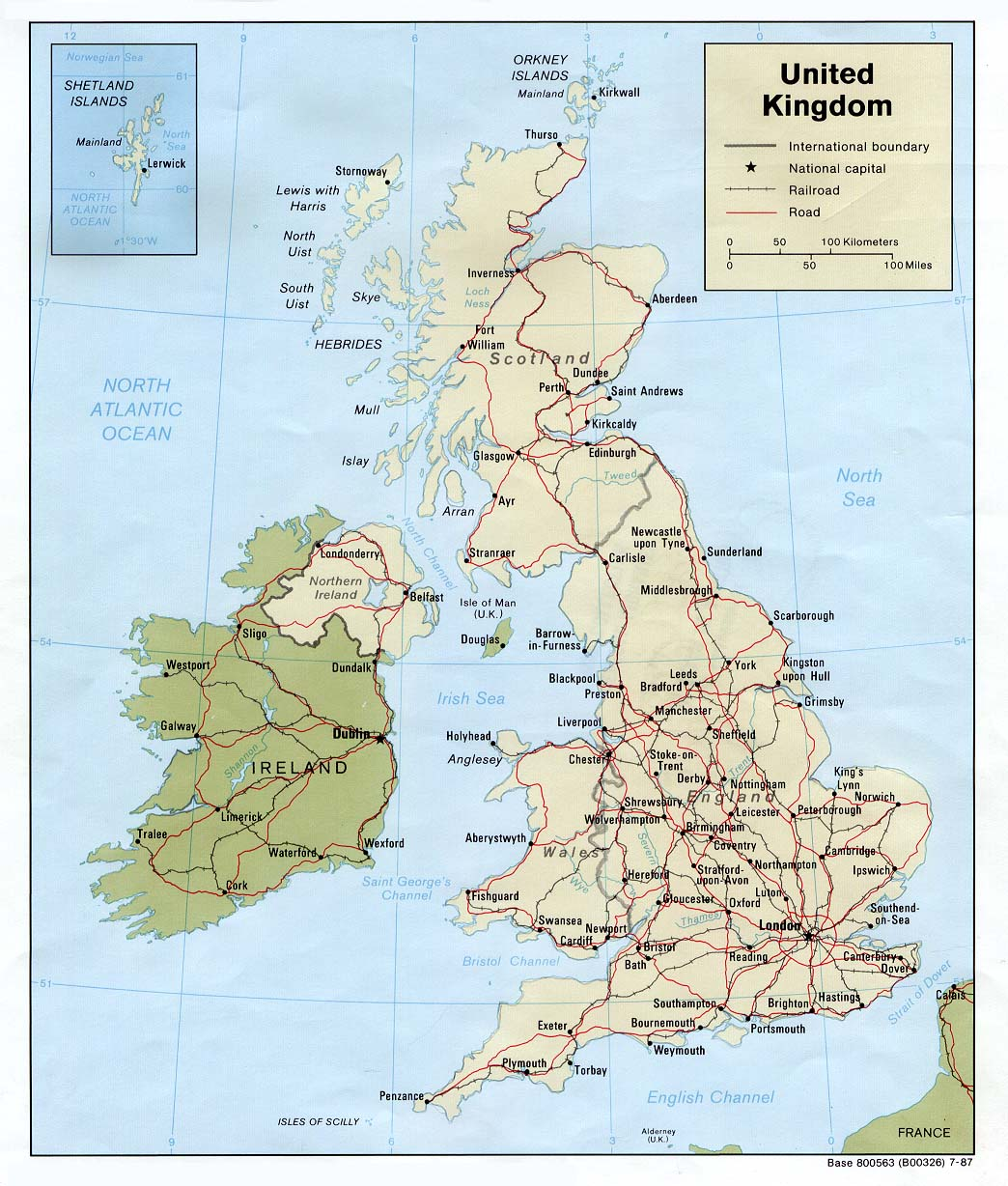 photo relating to Printable Map of Uk and Ireland called United Kingdom Maps - Perry-Castañeda Map Variety - UT