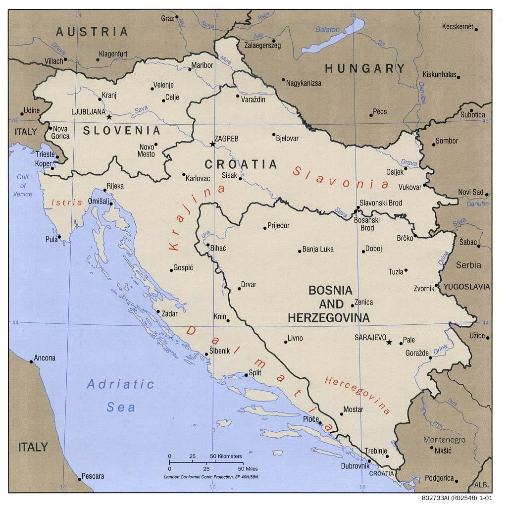 Ex Jugoslawien Karte.Bosnien Und Herzegowina In Karten Ein Link Atlas